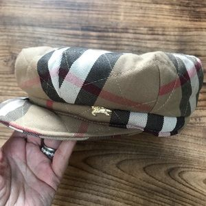Burberry Quilted Newsboy Hat